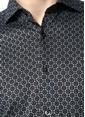 Paul Taylor Desenli Uzun Kollu Slim Fit Gömlek Gri